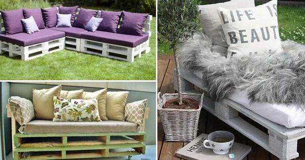 Divani Di Legno : Realizzare divani fai da te in pallet di legno
