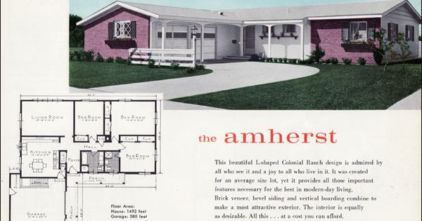 Vintage House Plan Amherst History Fun Pinterest