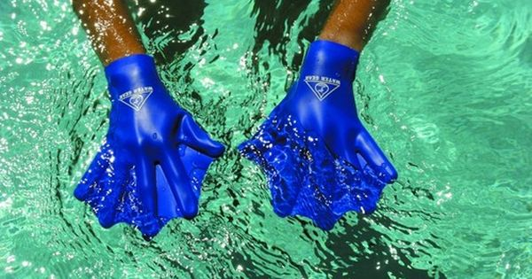 Swimming Aqua Fit Training-Exercise Swim Gloves Water Gear Training Paddles 2MM