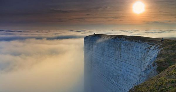 Beachy Head is a chalk headland in the United Kingdom, close to