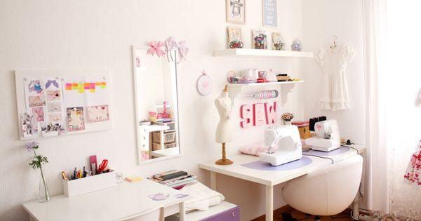 id es de d coration pour un atelier couture chez soi amenager atelier couture pinterest. Black Bedroom Furniture Sets. Home Design Ideas