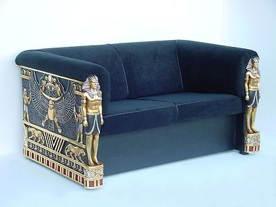 Egyptian Revival Deco Sofa Art
