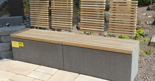 garten bank modern holz aus stein rinn beton und haus wohnen pinterest. Black Bedroom Furniture Sets. Home Design Ideas
