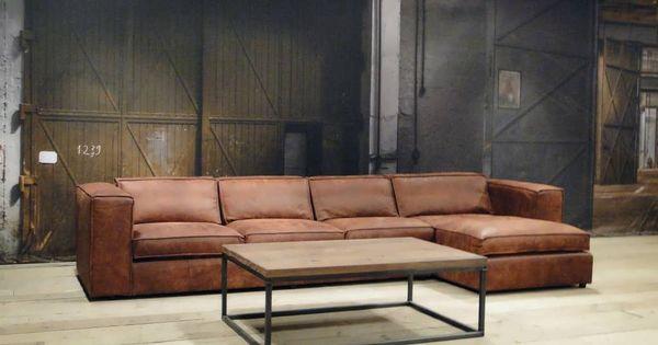 leren chaise longue bank palagano robuuste tafels. Black Bedroom Furniture Sets. Home Design Ideas