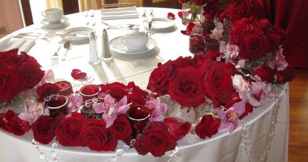 Déco de table reussie pour votre Saint Valentin fantastique  Deco ...