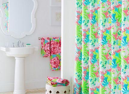 Lilly pulitzer bathroom garnet hill bathrooms pinterest for Lilly pulitzer bathroom