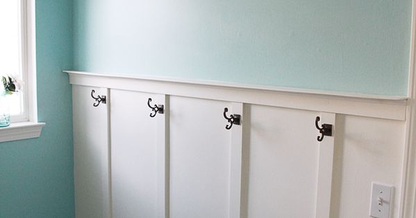 boy's bathroom idea instead of towel rack - but notice this is