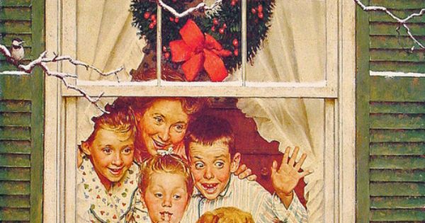 #vtgxmas Recreate this NormanRockwell painting for our family holiday photo one year