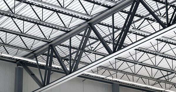 Flat roof 30 foot steel truss google search structure for Open web truss