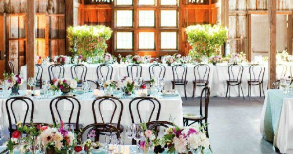 The Barn Reception. These chairs are great for this style reception.