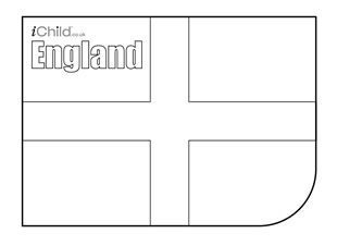 St George S Day English Flag Colouring In Picture Flag Of