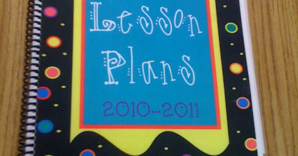 Teacher-made lesson plan book- teacher tips, organization ideas, and more.