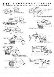 Menstrual Series As Taught By B K S And Geeta S Iyengar Iyengar Yoga Yoga Sequences Menstrual Yoga