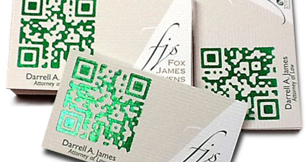 Cards From My Work Foil Qr Code Qr Code Business Card Printing Business Cards Business Card Design