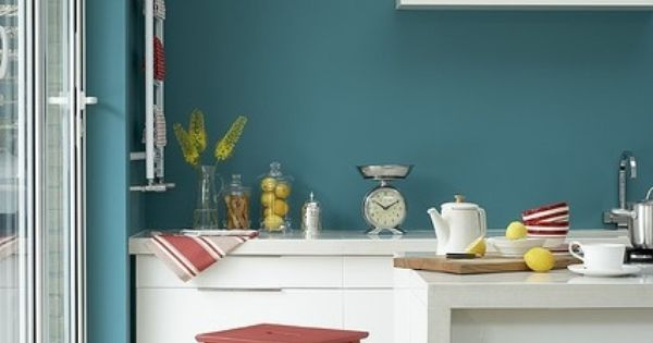 turquoise kitchen by little greene by reva
