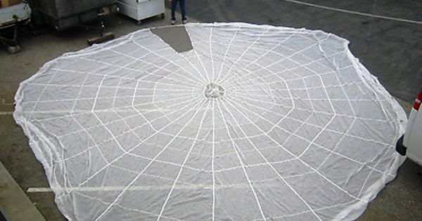 32 White Parachute Canopy Teepee With A Cut Out Door
