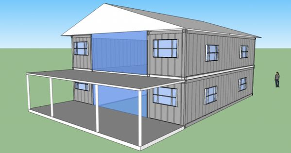 2560sqft 5br 2ba shipping container home - Two story shipping container homes ...
