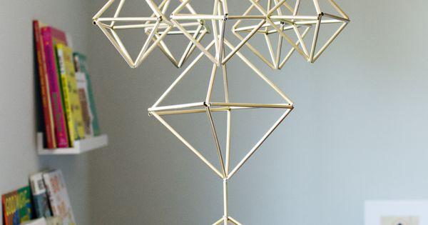 Himmeli entre d coration de no l et objet design formes for Objet deco geometrique