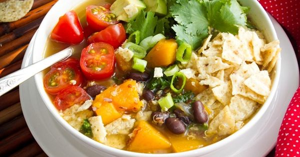 Black Bean, Sweet Potato, and Red Quinoa Soup vegan soup recipe
