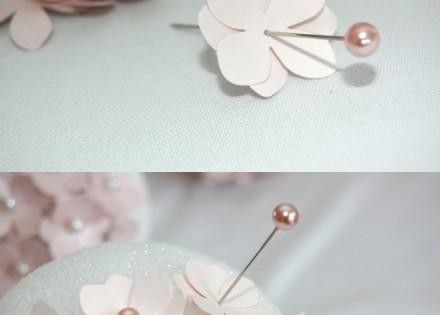 Pretty pink flower DIY