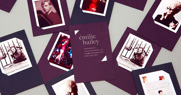Émilie Bailey business cards by ÉmilieBailey Photographer Business Cards @Bruno Palena Porrio