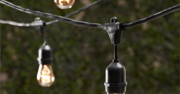 Glass Globe String Lights Restoration Hardware : Vintage Light String - eclectic - outdoor lighting - - by Restoration Hardware Let s have a ...