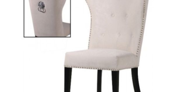 Cream Dining Chair With Lion Knocker 163 335 00 Kitchen