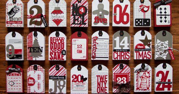Love this Christmas Countdown idea from Kerri Bradford.
