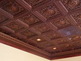 Faux Tin Drop In Ceiling Tile Vc02 Antique Copper Drop Ceiling Lighting Ceiling Tiles Copper Ceiling Tiles