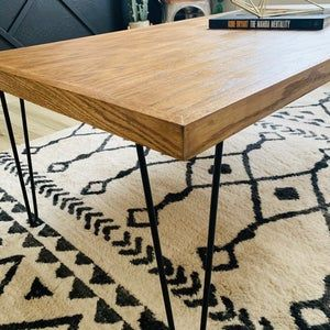 Mid Century Modern Coffee Table Hairpin Legs Coffee Table Etsy In 2020 Mid Century Modern Coffee Table Coffee Table Modern Coffee Tables