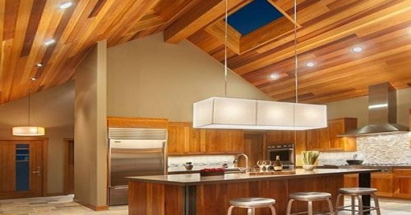Multi Color Wood Ceiling Recessed Lighting Modern Fixture
