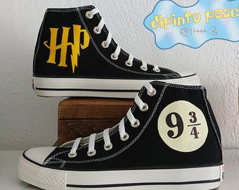 Harry Potter Hand Painted Custom Shoes | Harry potter shoes, Harry ...