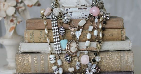 Necklaces on books two of my favorite things! Would make a great
