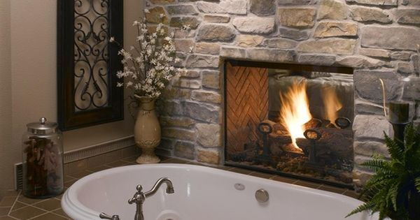 fireplace between the master bedroom and bathroom. Since I don't have a