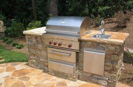 Atlanta Outdoor Kitchen Built In Grill Outdoor Kitchen Outdoor Grill