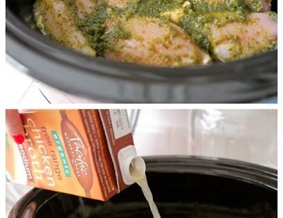 Pesto Ranch Crock Pot Chicken Thighs. Doubled the recipe, but only ...