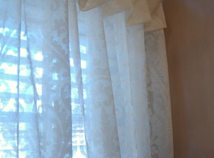 Simply elegant ivory cotton cafe curtains beyond the for Window cotton design