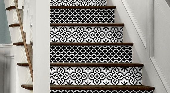 15pc Stair Riser Vinyl Strips Removable Sticker Peel