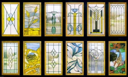 CI-52 Stained Glass Cabinet Inserts