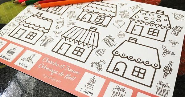 voici de quoi divertir vos enfants pendant les vacances de no l des coloriages cherche trouve. Black Bedroom Furniture Sets. Home Design Ideas
