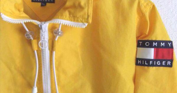 Yellow Tommy Hilfiger Windbreaker Jacket Lipstick And