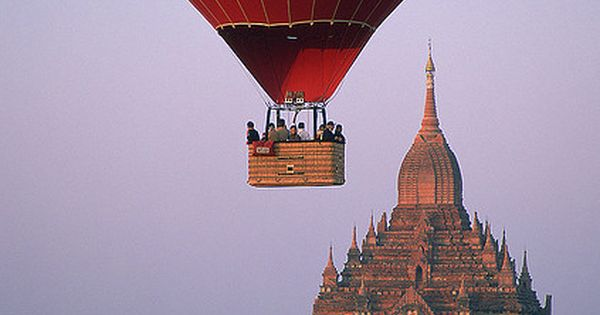 Balloon flight over the temples in Bagan, Myanmar (Burma). Such a beautiful