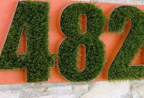 Creative House Number Ideas Eye Catching and Long Lasting: Natural House Numbers
