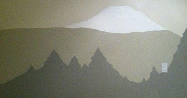Easy To Paint Mountain Tree Mural For Casa De Nakada