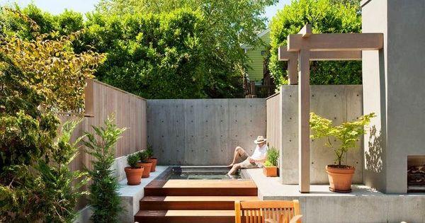 ... dans l'arrière-cour–idées modernes  Coins, Design and Deco