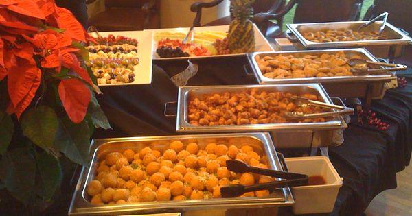 Hot Appetizer Buffet Popcorn Chicken Stuffed Mushrooms