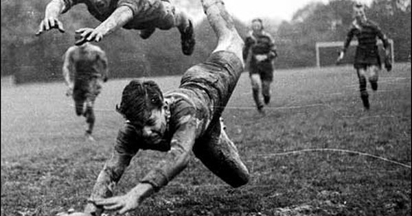 A rugby player scoring a try in a local final, in the