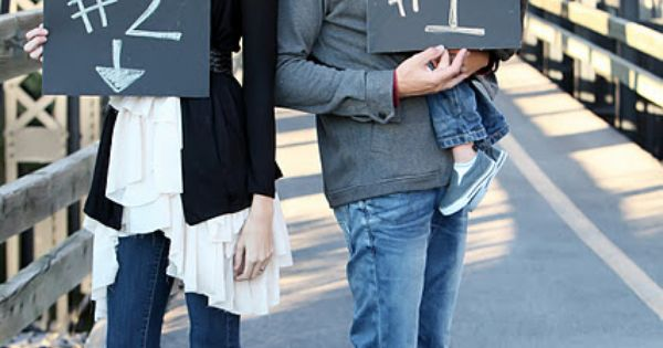 Baby / Pregnancy announcement ideas - what a cute idea - our