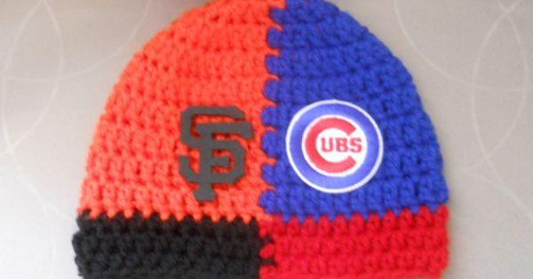 Crochet Custom House Divided Baby Baseball Beanie Hat By