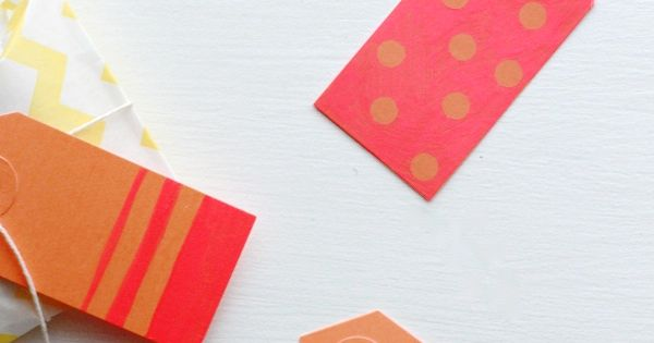 DIY Christmas Gifts for Family and Friends! DIY: Neon Color Block Gift